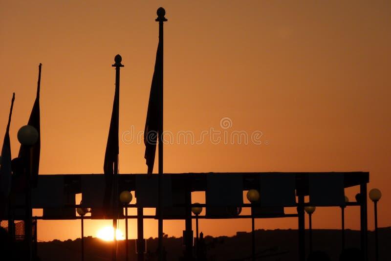 Coucher du soleil une Malte images stock