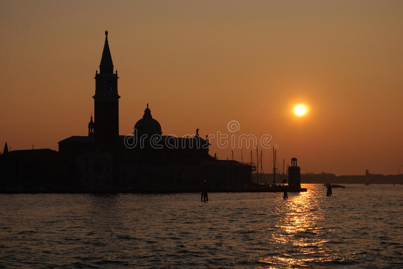 Coucher du soleil Venise photos stock