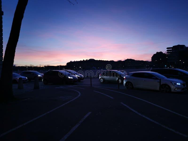 Coucher du soleil Versailles photographie stock libre de droits
