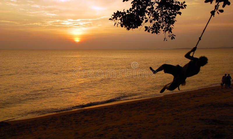 Couchers du soleil photographie stock libre de droits
