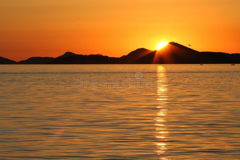 Couchers du soleil adriatiques photos libres de droits