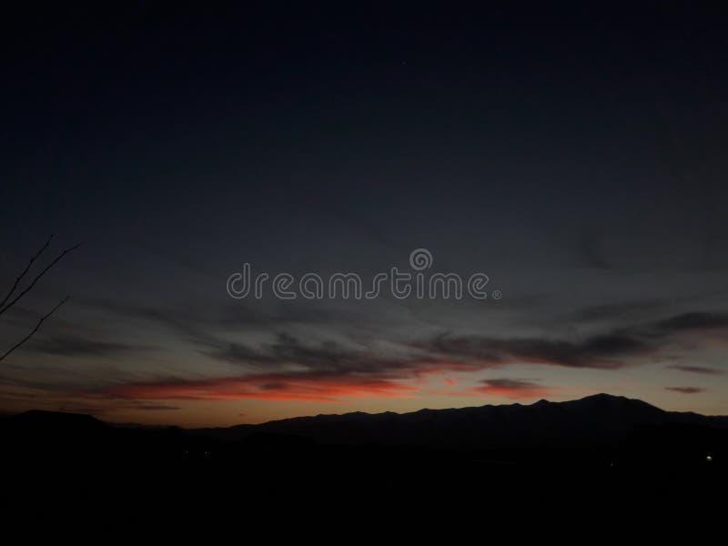 Couchers du soleil de l'Utah photo libre de droits