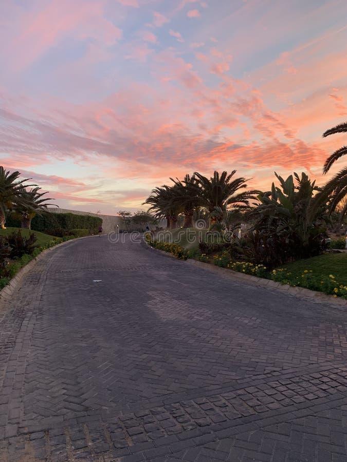 Couchers du soleil en Egypte photo stock