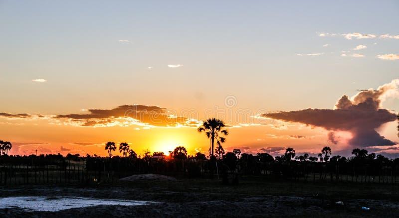Couchers du soleil namibiens photos libres de droits