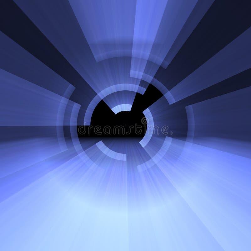 Couches d'arcs légers avec des fusées de halo illustration de vecteur