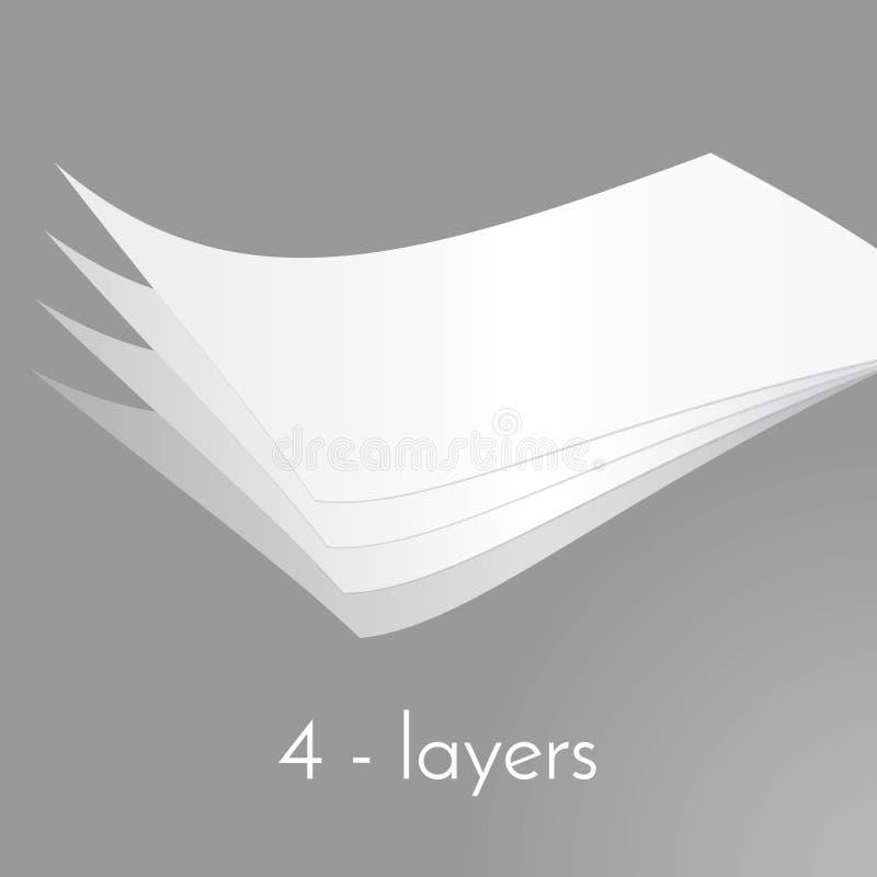 Couches de papier image stock