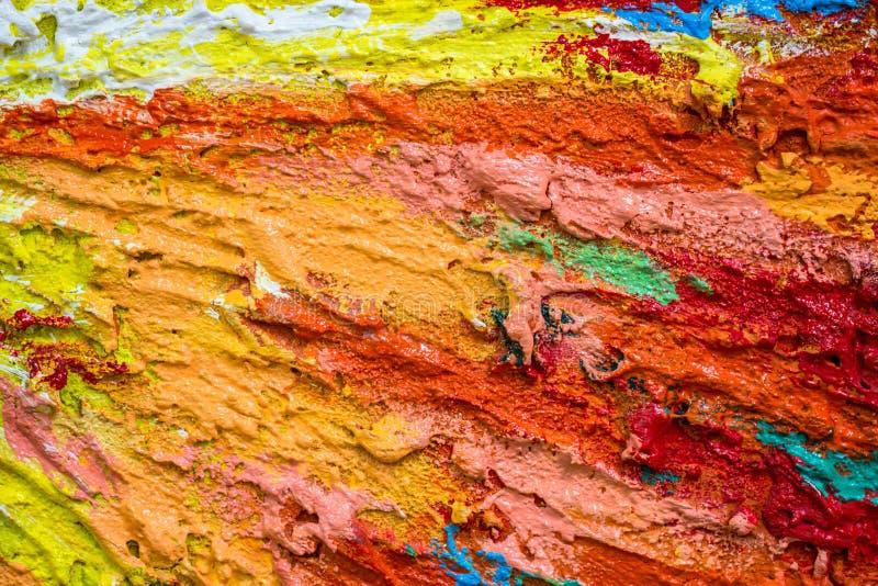 Couches denses épaisses de peinture en tant que tapotement malpropre moderne abstrait de texture photos stock
