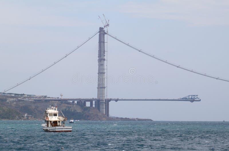 Couchette de bateau dans le détroit de bosphorus photo libre de droits