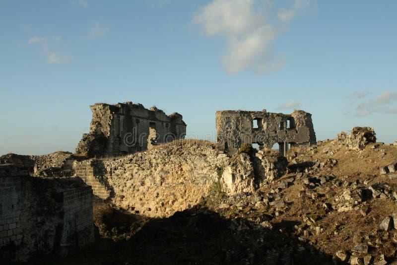 Coucy le Chateau城堡在法国 免版税库存照片