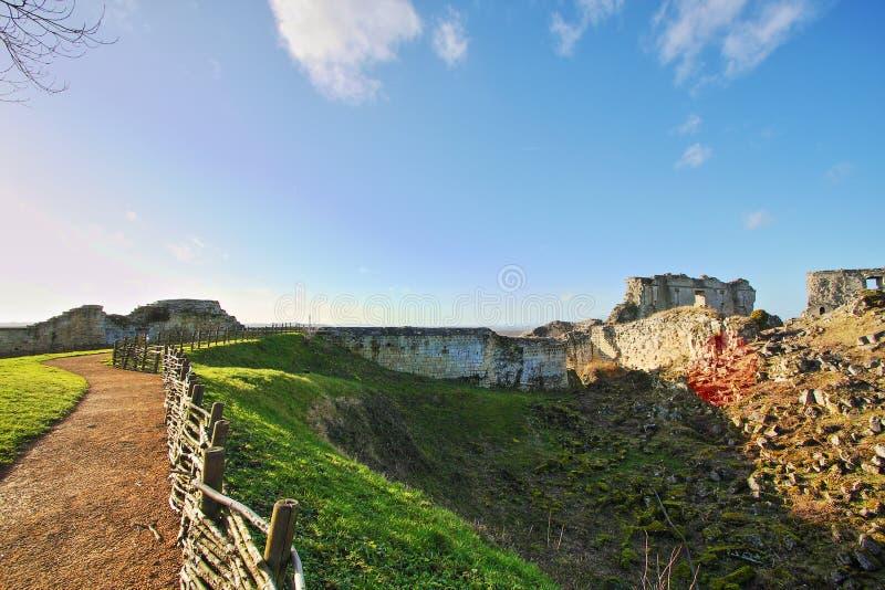 Coucy le Chateau城堡在法国 库存图片