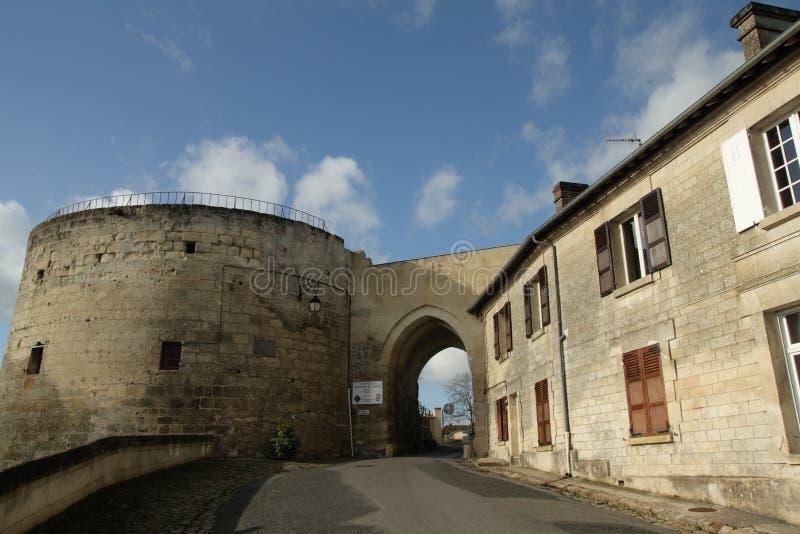 Coucy le Chateau街道在法国 免版税库存照片