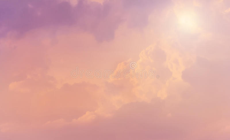 Couds in pink sky royalty free stock photography