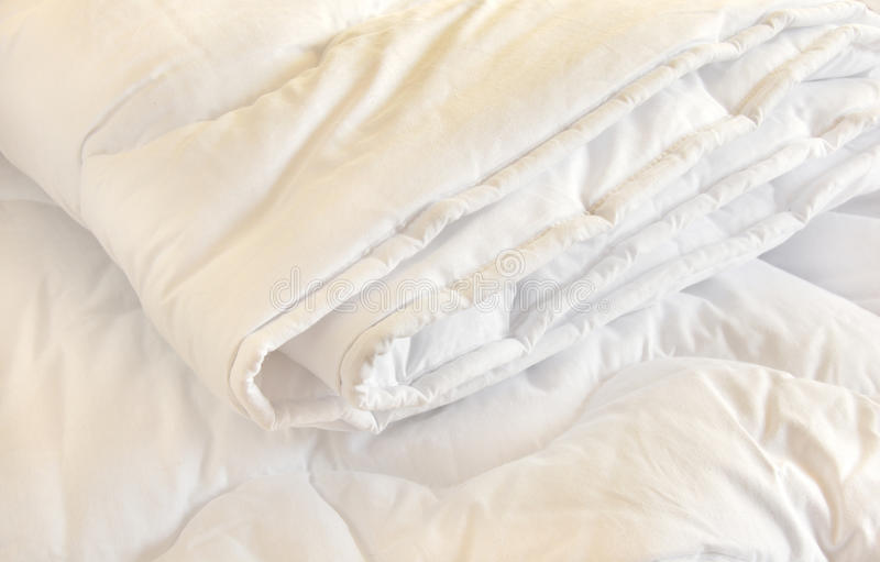 Couette blanche image stock