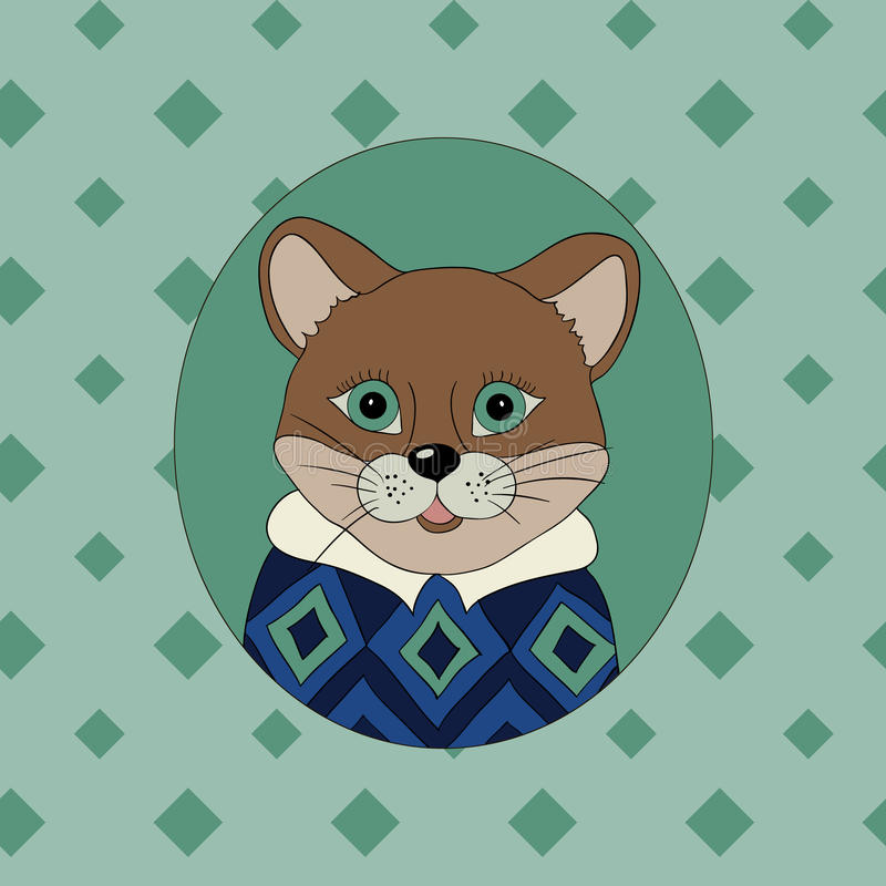 cougar Beeld voor kleren vector illustratie