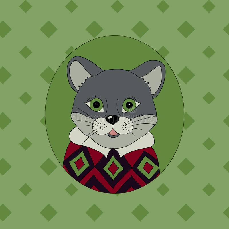 cougar Beeld voor kleren royalty-vrije illustratie