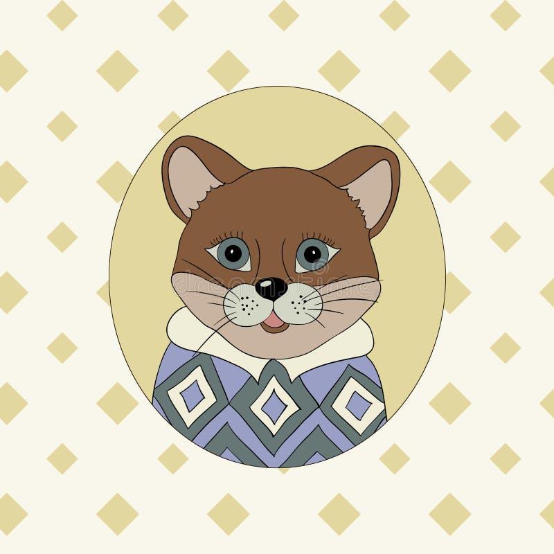 cougar Beeld voor kleren, kaarten stock illustratie