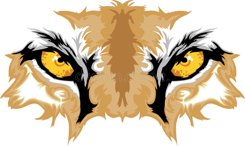 Cougar Eyes Mascot Graphic Stock Image