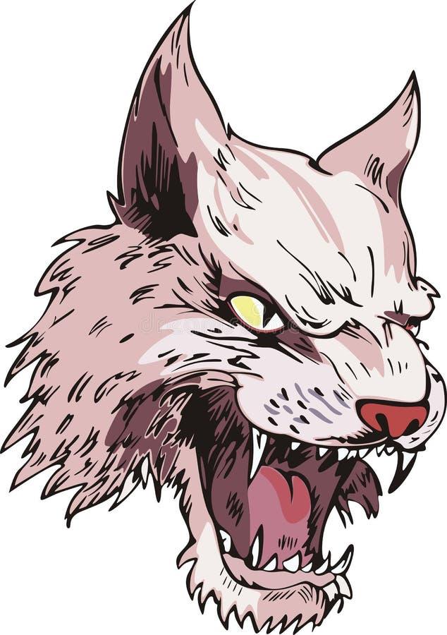 Download Cougar head stock vector. Illustration of lynx, vector - 26003348