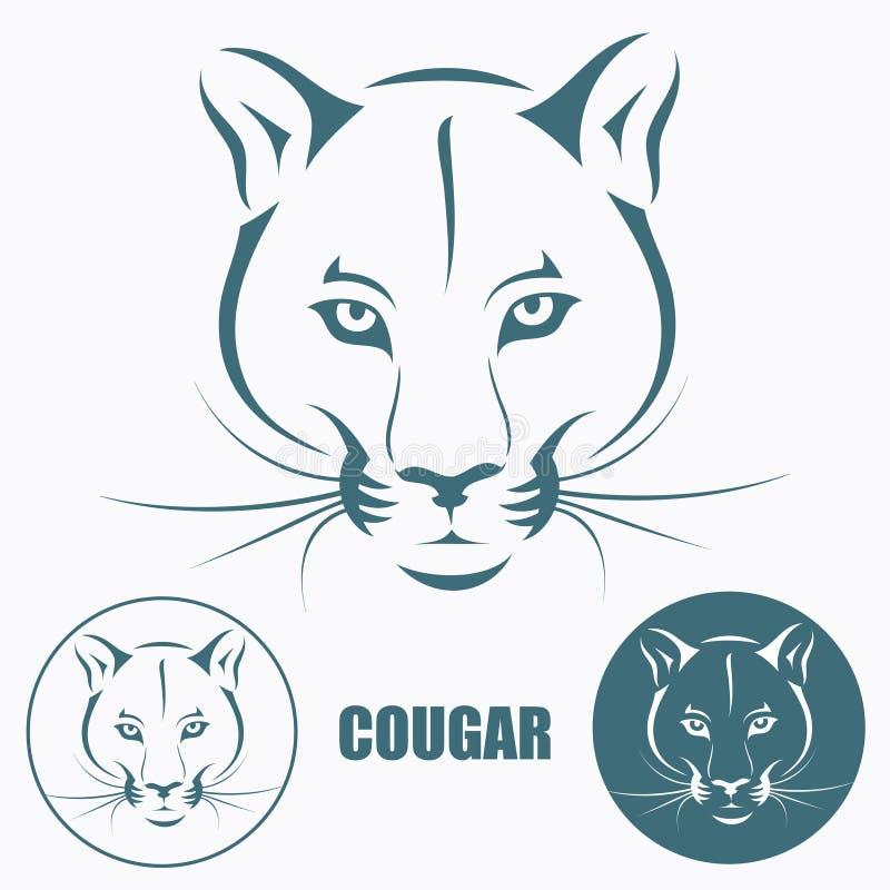 Cougar head vector illustration