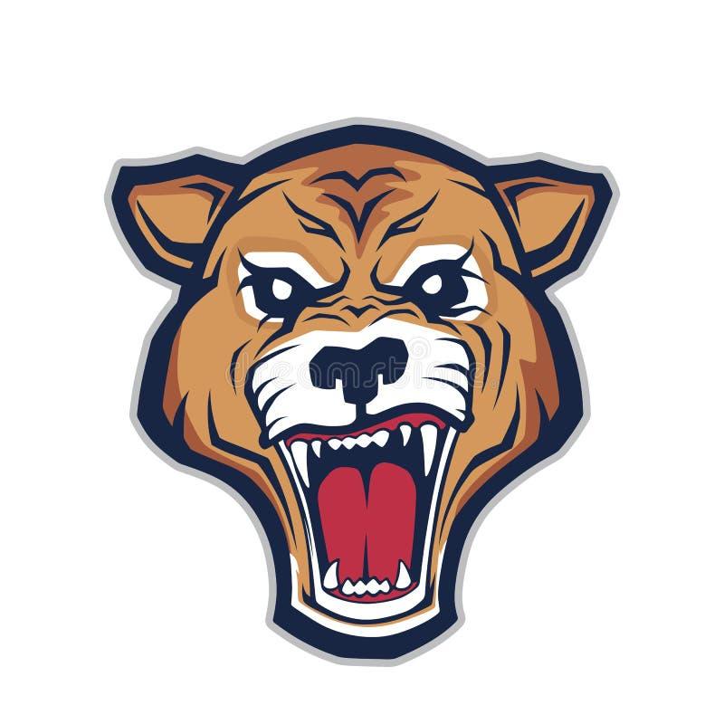 Cougar head mascot stock illustration