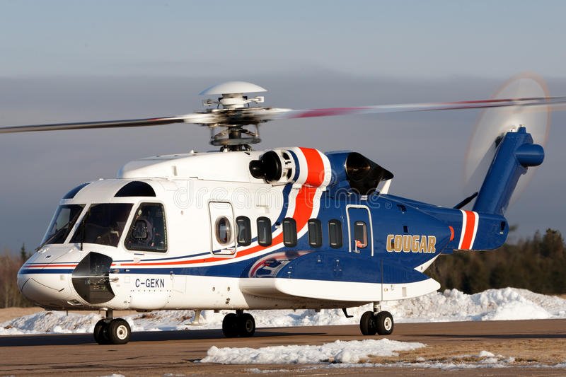 Cougar Helicopters royalty free stock photo