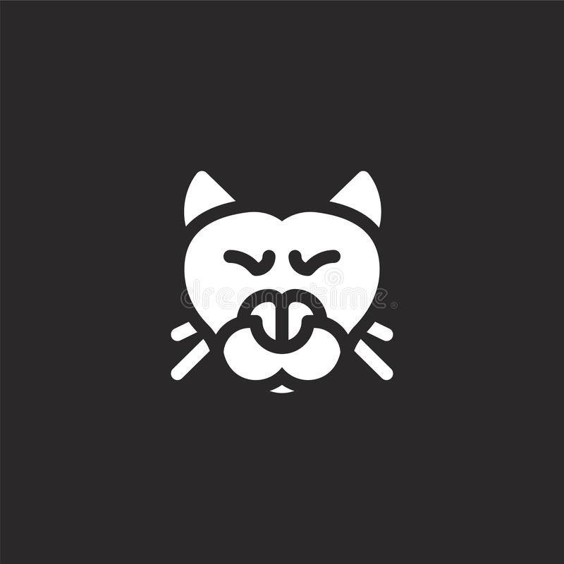 cougar icon. Filled cougar icon for website design and mobile, app development. cougar icon from filled jungle collection isolated vector illustration
