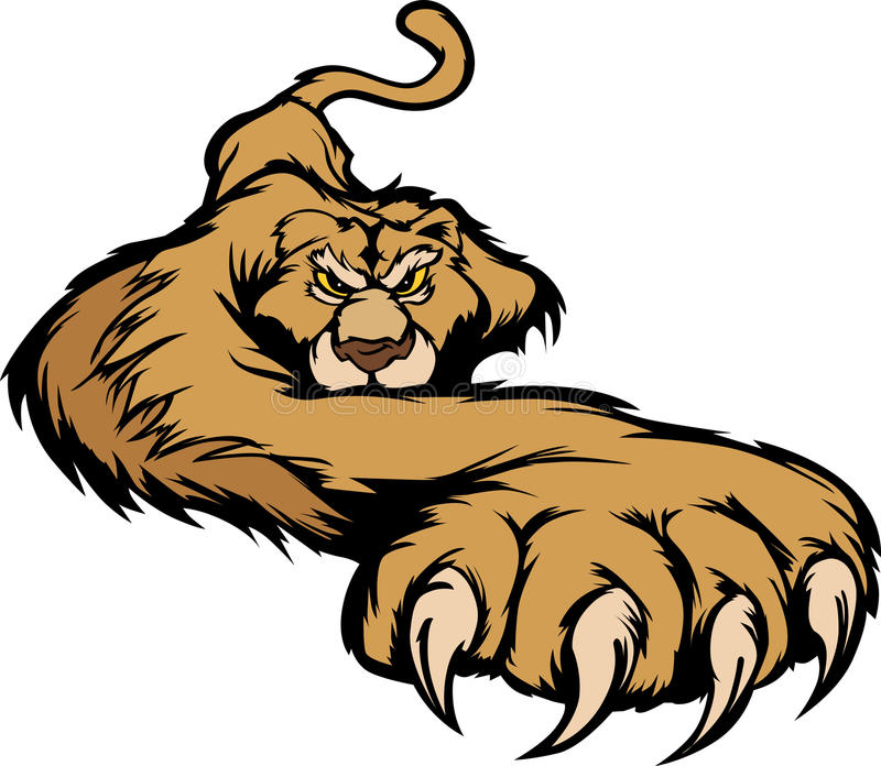 Cougar Mascot Body Prowling Graphic royalty free illustration