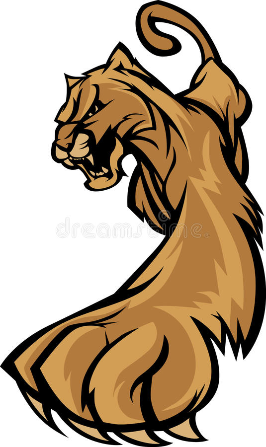 Free Cougar Mascot Logo Royalty Free Stock Photos - 18681508