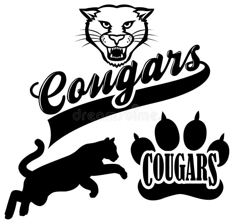 Cougar Team Mascot royalty free illustration
