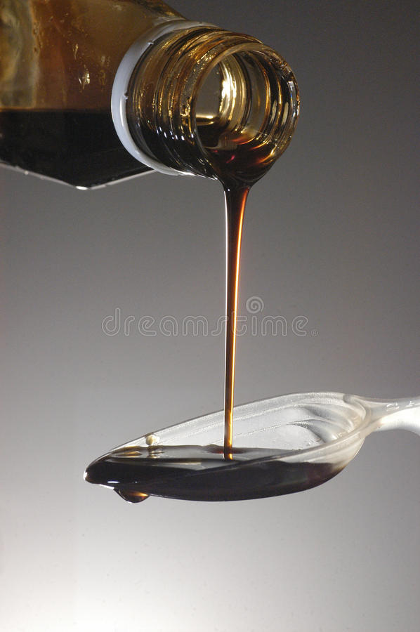 Cough medicine royalty free stock images