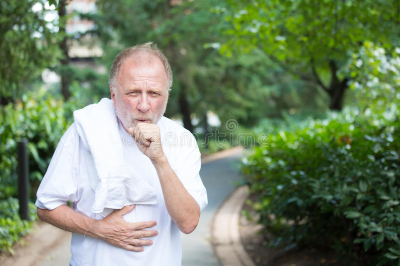 coughing fotografia de stock royalty free