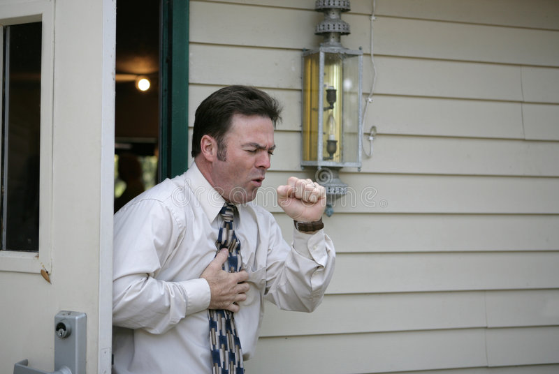 Download Coughing In Doorway Royalty Free Stock Images - Image: 1937819
