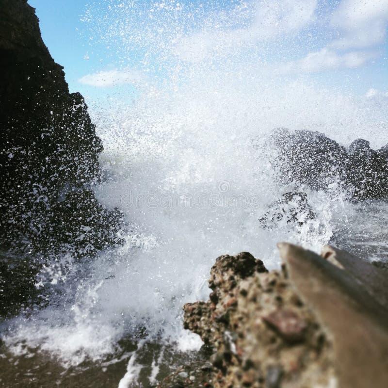Cought del momento de la cascada con mi cámara P9 fotos de archivo