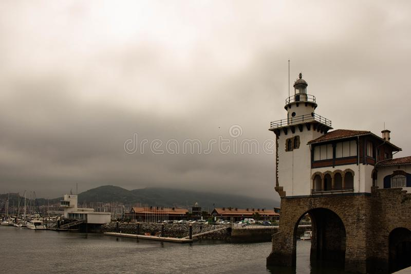 Couldy day at Bilbao stock image