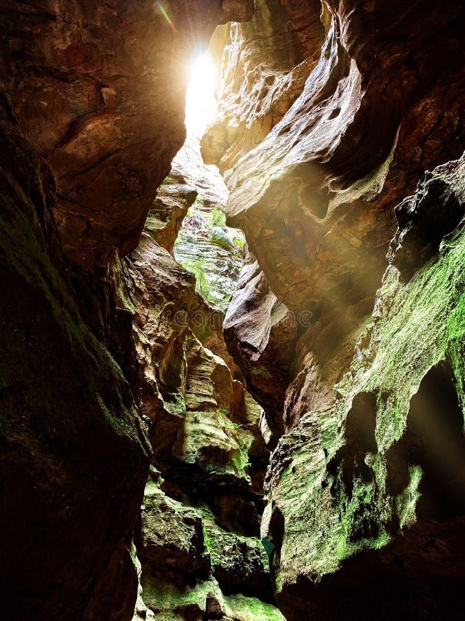 Couler léger dans un canyon chez Newnes photo stock