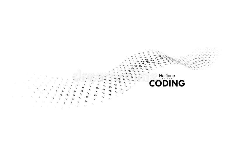 Couler le code binaire illustration de vecteur