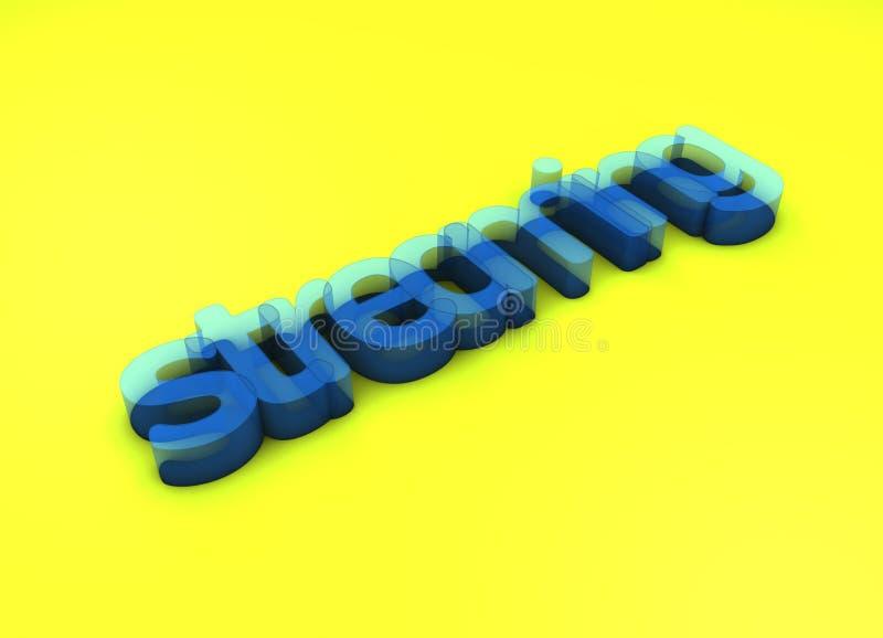 Couler le titre de la conception 3D photo stock
