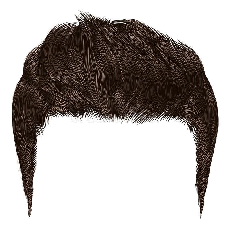 Couleur élégante à la mode de blonde de brun de poils d'homme dénommer élevé de cheveux illustration stock