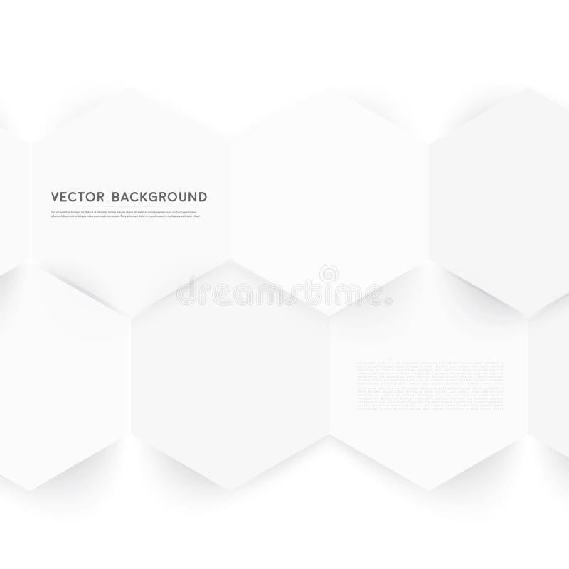 Couleur abstraite 3d de vecteur hexagonale illustration libre de droits