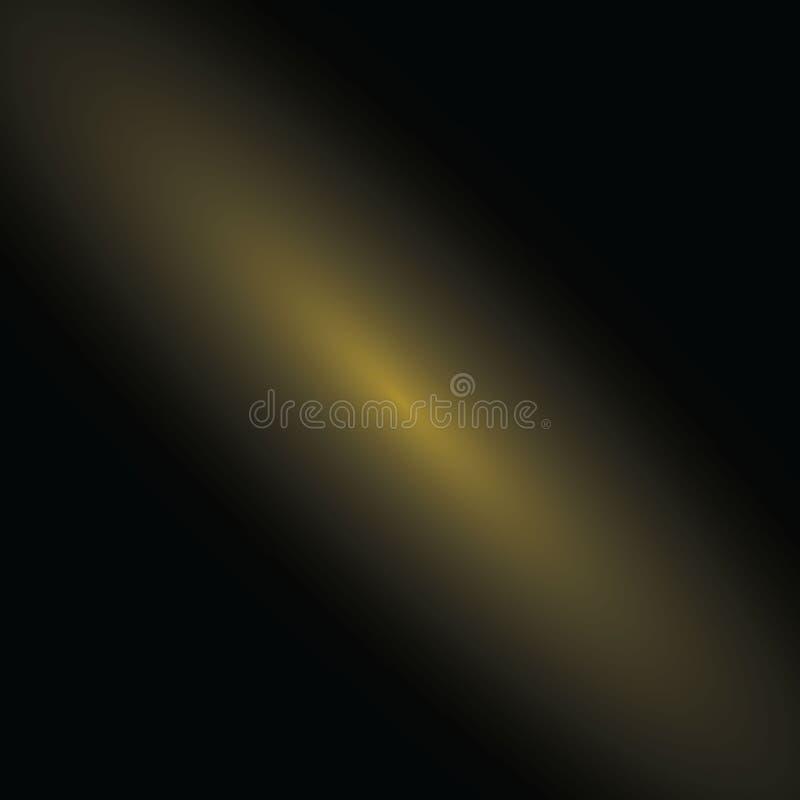 Couleur abstraite d'or sur le fond noir Conception pour vous projet Bannière, papier peint Image brouillée beau par doux illustration libre de droits