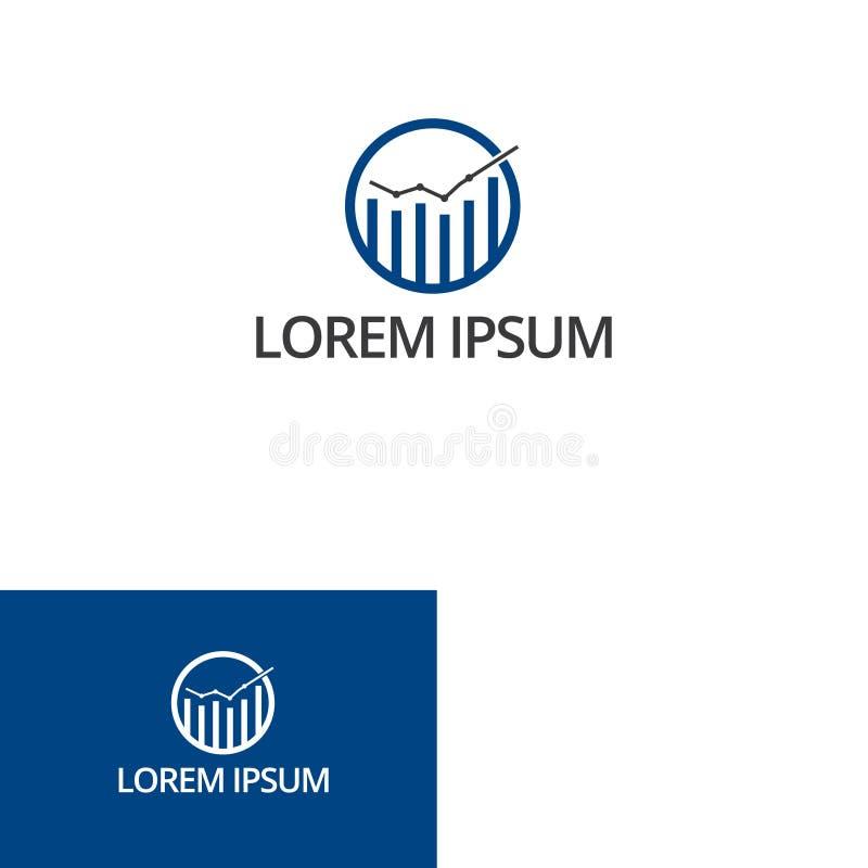 Couleur bleue de courbe d'illustration de vecteur d'icône plate de données illustration libre de droits