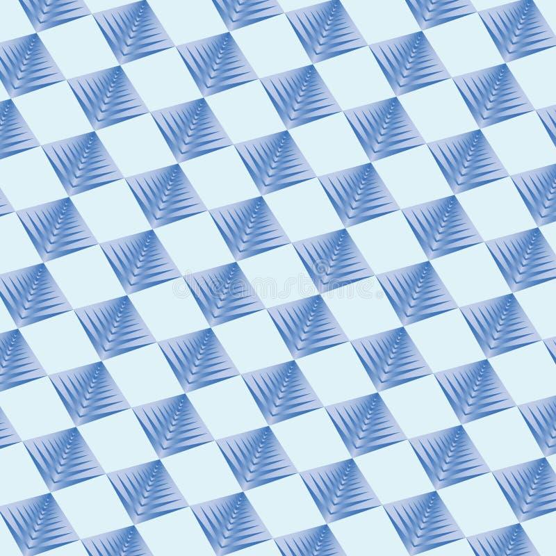 Couleur bleue de fond géométrique de modèle illustration libre de droits