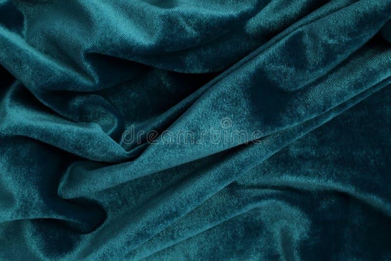 Couleur bleue de fond de texture de velours Baskground de fête de Noël images stock