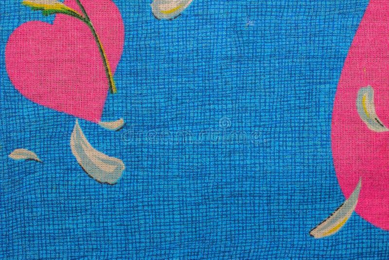 Couleur bleue de modèle extérieur en gros plan de tissu, fond de texture Pour le fond naturel, bannière, impression, modèle, file image libre de droits