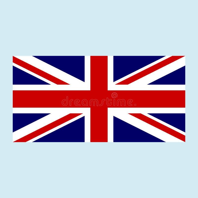 Couleur britannique de drapeau illustration de vecteur