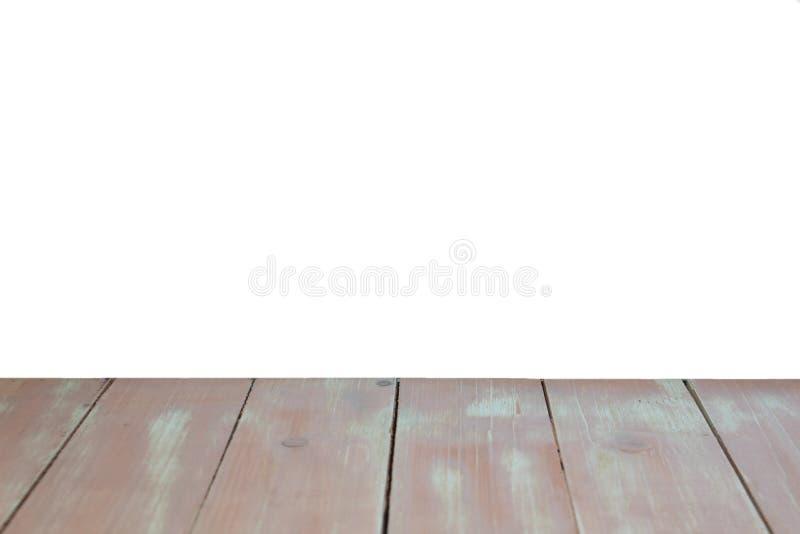 Couleur brun clair de plancher en bois de texture et d'isolement sur la moitié de la photo photo stock