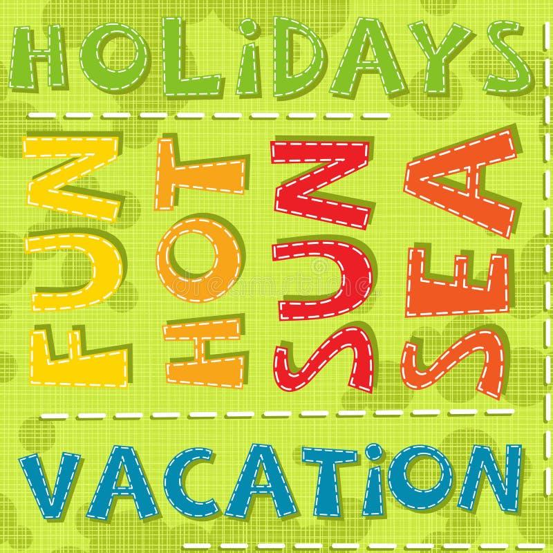 Couleur chaude de mer du soleil d'amusement de vacances de vacances d'été illustration de vecteur
