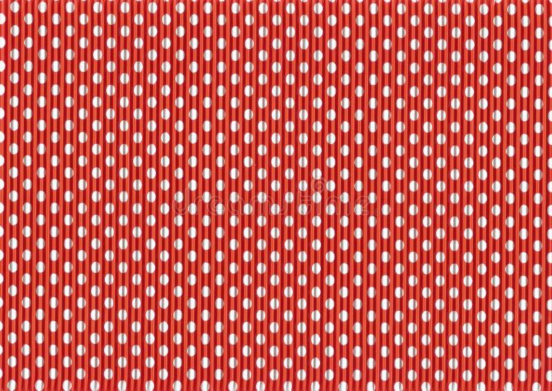Couleur colorée ondulée de cru de points de polka de carton r illustration stock