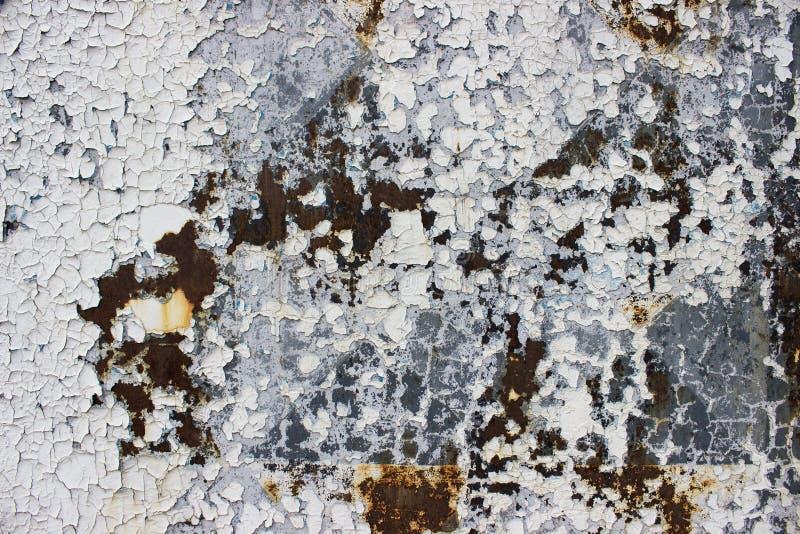 Couleur criquée de mur, peinture extérieure photo stock