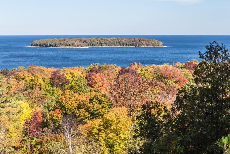 Couleur d'arbre du comté de Door dans le Wisconsin photo stock